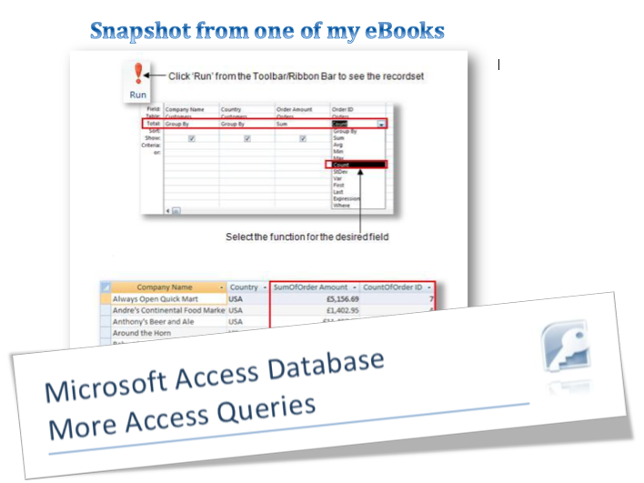 Microsoft Access Queries eBook previiew
