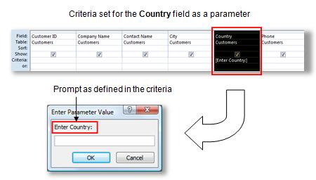 advanced parameter query in microsoft access