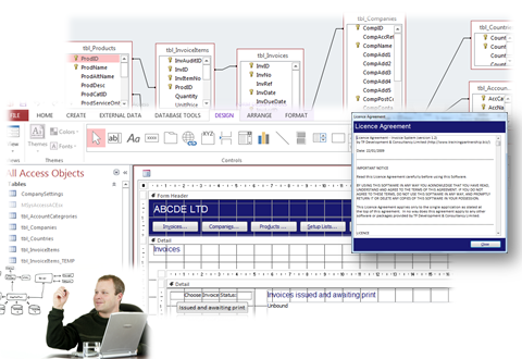 microsoft access database design processes
