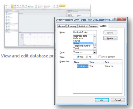 ms access databases properties