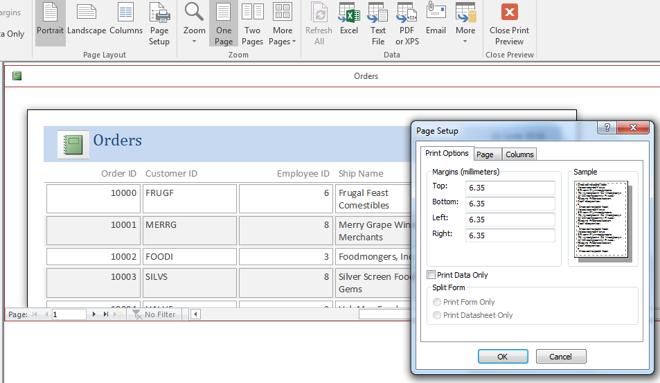 microsoft access database 2016 printing reports a report is only as good as the data stored and retrieved typically via a query in your microsoft access