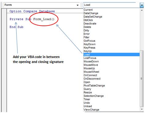 Microsoft VBA code