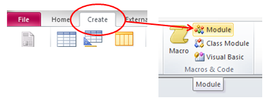 access vba visual basic editor new module